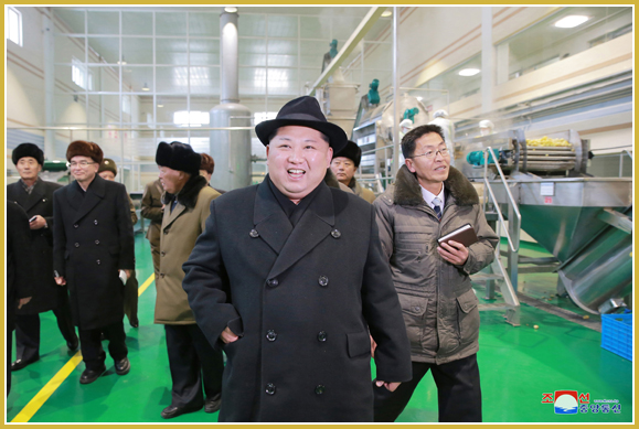 Newly-built Samjiyon Potato Farina Factory Inspected - Image