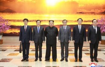 Kim Jong Un Meets Members of Delegation of Special Envoy of S. Korean President - Image